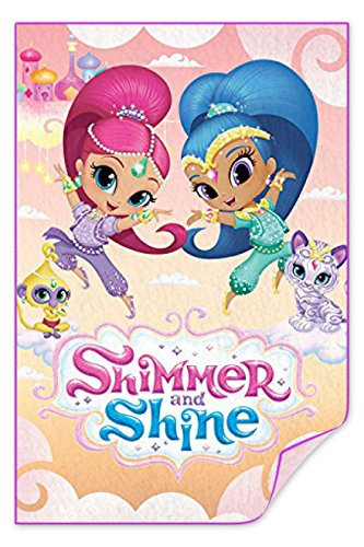Characters Cartoons – Plaid Decke Winter Kinder Mädchen – Disney Pixar DC Comics Marvel Nickelodeon Dreamworks Shimmer and Shine (Captain America-spiele F)