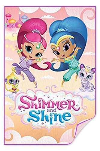Characters Cartoons–Plaid Decke Winter Kinder Mädchen–Disney Pixar DC Comics Marvel Nickelodeon Dreamworks Shimmer and Shine (Captain America-spiele F)