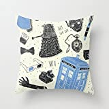Telecharger Livres 1WillLoanestore Cotton Linen Square Throw Pillow Case Decorative Cushion Cover Pillowcase for Artifacts Who Doctor (PDF,EPUB,MOBI) gratuits en Francaise