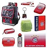 FC Bayern München Schulrucksack Set 15 tlg. Federmappe Turnbeutel Dose Alu-Trinkflasche uvm.