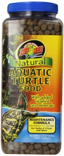 Zoo Med Natural Aquatic Turtle Food, Maintenance Formula, 12-Ounce by Royal Pet Supplies Inc (Aquatic Natural Turtle Food)