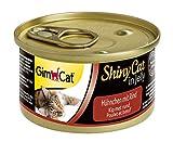 GimCat ShinyCat in Jelly Hühnchen   Katzenfutter mit Huhn in Gelee für ausgewachsene Katzen   24 Dosen (24 x 70 g)