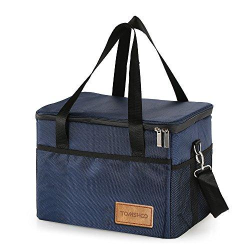 Tomshoo borsa termica, borsa pranzo, picnic pieghevole isoterma con tracolla grande capacità 10/18/28/37/47l per campeggio, scuola, lavoro