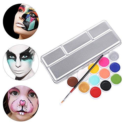 Anself Kit de paleta de maquillaje para cara y cuerpo lavable óleo pintura party