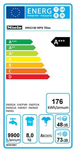 Miele WKG120WPS D LW TwinDos Waschmaschine Frontlader / A+++ / 176 kWh / Jahr / 1600 UpM / 8 kg / Lotosweiß / 9900 L / Jahr / Capdosing - 2