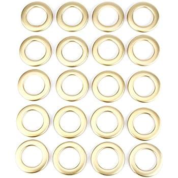 SurePromise One Stop Solution for Sourcing Couleur Dore Lot 20x Anneau Rideau Store Boucle Glissant Tringle Tige