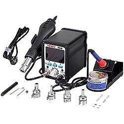 Estación de soldadura 995d soldador estación de reparación soldadura SMD aire caliente pistola 2in 1Iron 100℃ -480℃ con pantalla LED Digital Precisa