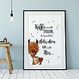 A3 Print Lama mit Spruch Poster Plakat Druck mit Motto Zitat Kaffee erreicht Stellen... P101 ilka parey wandtattoo-welt®