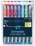 Schneider Slider Basic Kugelschreiber 8er Etui sortiert