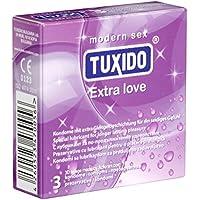 Tuxido «Extra Love» 3 Kondome - aktverlängernde Kondome mit Benzokain (4%) für mehr Stehvermögen, mit Bananengeschmack... preisvergleich bei billige-tabletten.eu