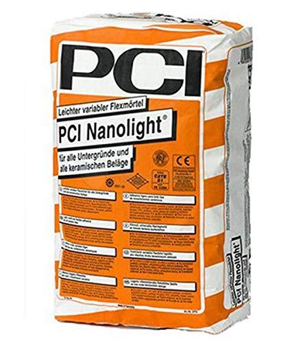 PCI NANOLIGHT Flexmörtel 15 kg zum Verlegen aller keramischen Beläge - hohe Ergiebigkeit - wenig Staub - sehr emissionsarm