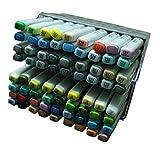 lanxivi finecolour Sketch Marker Pen 72Farben Öl Base-Set Künstler notwendig, Arbeit Lieferant