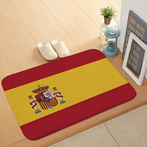 ft-Fußball-Thema-Teppich-Nationalmannschaft-Logo-Matte,Spanien,60x40cm ()