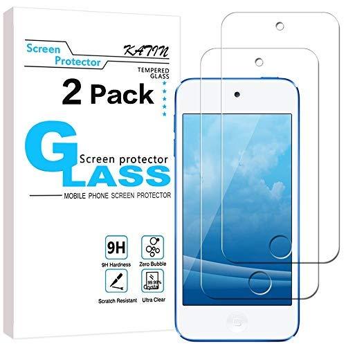 Katin Displayschutzfolie für iPod Touch (7. Generation/ 6. Generation/ 5. Generation), Japanisches Hartglas, blasenfrei, lebenslange Herstellergarantie (Displayschutzfolie Ipod 5 Gen)