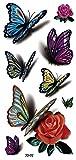 3d farfalle Tattoo Disegno Fake Tatuaggi Gioielli Tatuaggio Adesivo Per Corpo 3d di 02