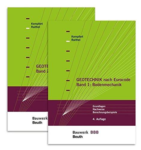 Paket Geotechnik nach Eurocode: Band 1: Bodenmechanik + Band 2: Grundbau Bauwerk-Basis-Bibliothek