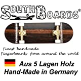 Completo Finger Skateboard Oak/GO/WS South Boards® Handmade Wood tarjeta Real Madera