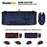 #2: Cosmic Byte Dark Matter Gaming Keyboard and Mouse Combo, 3 color LED backlight, Upto 2400 DPI 5 button LED Mouse (Black)