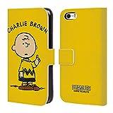 Head Case Designs Ufficiale Peanuts Charlie Brown Personaggi Cover a Portafoglio in Pelle per iPhone 5 iPhone 5s iPhone SE