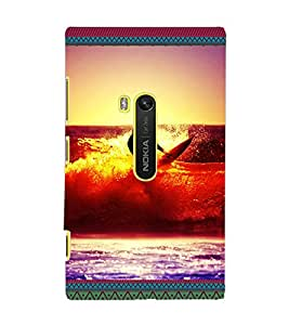 PrintDhaba Diving D-3078 Back Case Cover for NOKIA LUMIA 920 (Multi-Coloured)