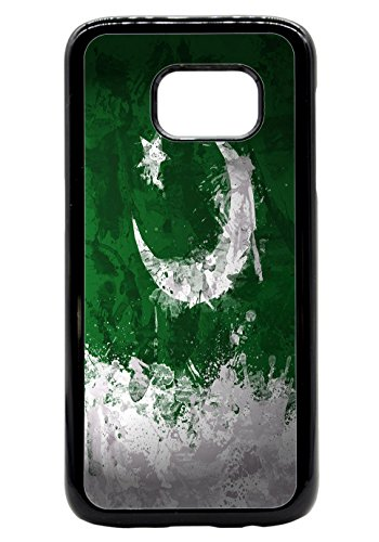 Pakistan Pakistani Painted Flag Rubber Bumper Hard Back Phone Case Cover for (Samsung Galaxy S8 Plus) (4 6 X Flag)