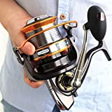 Jarvan 13BB Nouveau LJ9000 All Metal Line Cup Big Long Shot Round Fishing Reel Bateaux de pêche Sea Anchor Rod Reels (9000)
