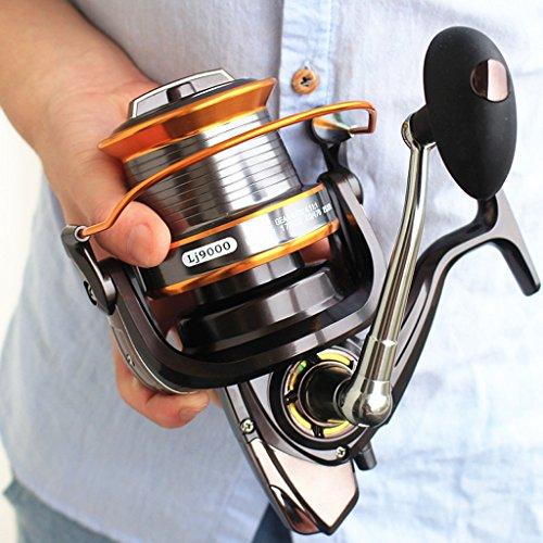 Jarvan 13BB nuevo LJ9000 All Metal línea taza Big Long Shot redonda carrete de pesca pesca barcos ancla de mar caña de pescar Spinning Carretes (9000)