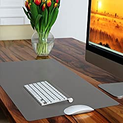 Casa Pura Non-slip Grey Desk Mat | Desk Pad With Smooth Surface | 50x65cm (1.6'x2') | Pvc & Phthalate Free | In 10 Colours