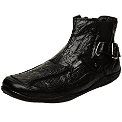 Buckaroo WARDEN - Black Mens Biker Boot- 42 EU / 9 US Men