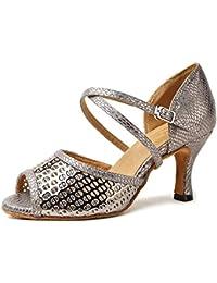 SHOES Scarpe da Ballo Latino Donna Sandali con Tacco Sexy Cross Strap  Punta A 35e733e82d3