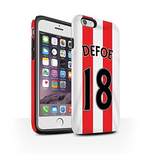 Offiziell Sunderland AFC Hülle / Matte Harten Stoßfest Case für Apple iPhone 6 / Pack 24pcs Muster / SAFC Trikot Home 15/16 Kollektion Defoe