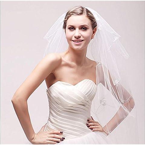 Wedding Accessori avorio di tre strati merletto