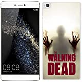 Funda carcasa para Huawei P8 Lite diseño the walking dead 3 borde blanco