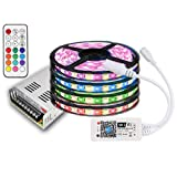 20m IP20 RGBW (RGB+Warmweiß) LED Streifen mit 1200 LEDs (SMD 5050) +WLAN Wifi controll mitAmazon Alexa/SMARTPHONE +12v 21A 250W Netzteil STROMVERSORGUNG für Haus & Garten outdoor Decorative