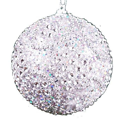 m Glitter Kugelkugeln Xmas hängen Anhänger Featival Partyhaus Dekor Ornamente Dekoration Geschenk Multicolor Praktisch (Ausfüllbare Ornamente)