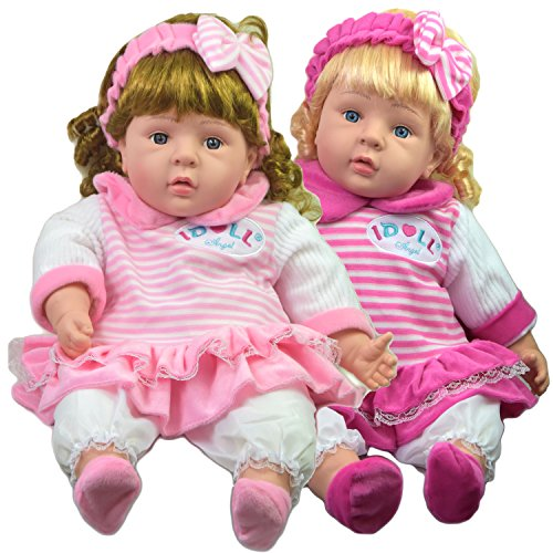 Realistic Lifelike Soft Bodied Chubby Baby Doll Girls Boys Toy With Sounds, Large Size, 24 Inches