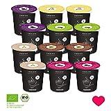 mymuesli Probierpaket - mymuesli2go - porridge2go - Müslibecher - Müsli ToGo - 12 x 85g praktischen Portionsbecher - Bio Müsli und Bio Porridge - Hergestellt in Deutschland aus 100% Bio-Zutaten (Porridge)