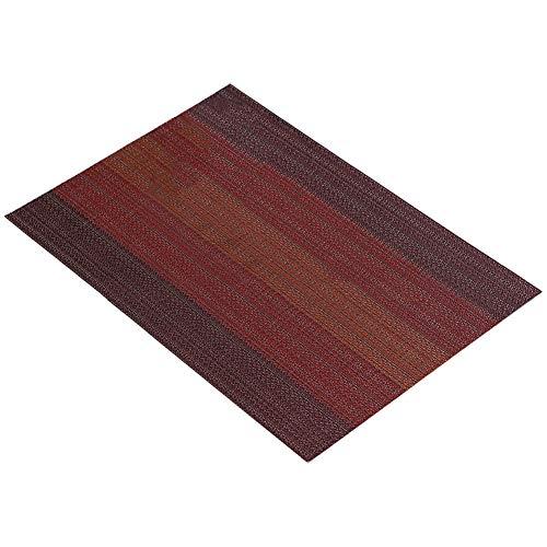 Chen Rui (TM Napperons de Table Caractéristiques en PVC avec Effet Isolation pour la Table de Cuisine dans 3 Couleurs 45 * 30cm (Rouge)
