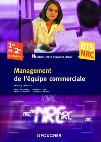 Management de l'équipe commerciale BTS NRC 1e et 2e années