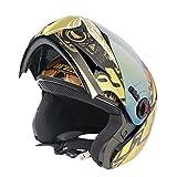 #7: Steelbird A1 Ares Royal Flip-Up Helmet (Golden, L)