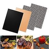 Linxin Tapis de cuisson anti-adhésif pour barbecue + tapis en maille en téflon...