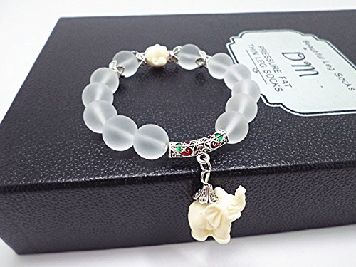 Antik Korn (Nolunt (TM) Ethnische Matte Kristall Elefant-Charme-Armband f¨¹r Frauen-Antike-Silber Buddha Kopf Tier Korn Kultur Armband Schmuck)