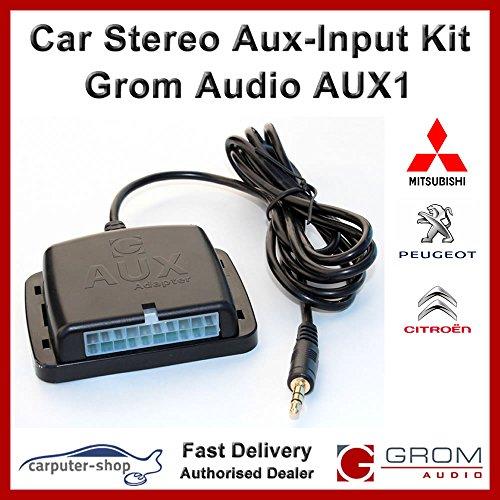 GROM Audio AUX1 entrée auxiliaire Kit adaptateur d'interface auxiliaire pour les plus âgés MITSUBISHI # MITS02