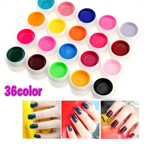 36 Farbe Nail Art UV Gel Farbgel Effekt-Gele Fingern?gel Nagelgel Nagel Set