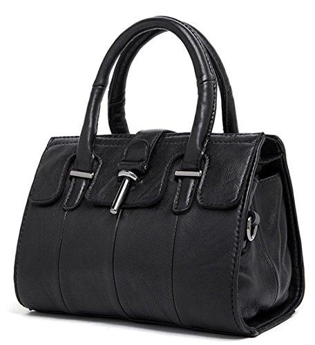 Keshi Schaffell neuer Stil Damen Handtaschen, Hobo-Bags, Schultertaschen, Beutel, Beuteltaschen, Trend-Bags, Velours, Veloursleder, Wildleder, Tasche Schwarz