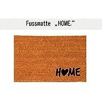 HOME (mit Herz) Kokos-Fußmatte Teppich Fußabtreter 40 x 60 cm Geschenk Einzug Geburtstag
