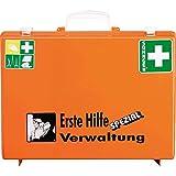 SÖHNGEN Erste-Hilfe-Koffer Verwaltung, Wandhalterung, Orange, ASR A4.3/Din 13157, mit PRÜFPLAKETTE