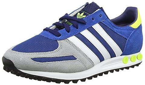adidas Herren LA Trainer Low-Top, Blau (Eqt Blue S16/Ftwr White/Solar Yellow), 44 EU