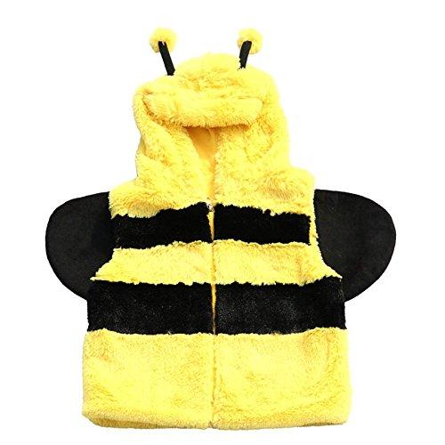 IWEA Baby Kleinkind Plüsch Weste Animal Gilet Bodywarmer Tierkostüm verschiedene Motive IW043, Biene, M/L
