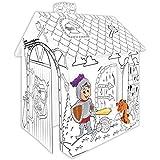 Casa de juegos de Cartulina CABALLERO Pappspielhaus para Pintar Página de inicio Juguete Caja cartón